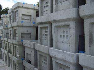 Calage pour bloc beton